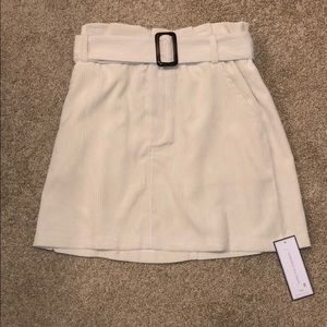 NWT Corduroy belted skirt